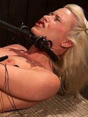 Hot Blonde Anikka Albrights FIRST BONDAGE SHOOT EVER!