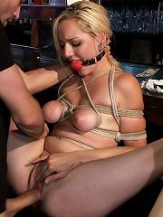 Hot Blonde Disgraced in Bar