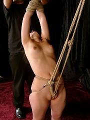 Flexible slave in bondage action