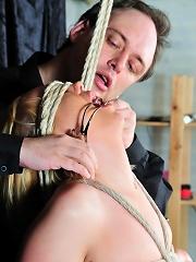 Bound and humiliated blondie